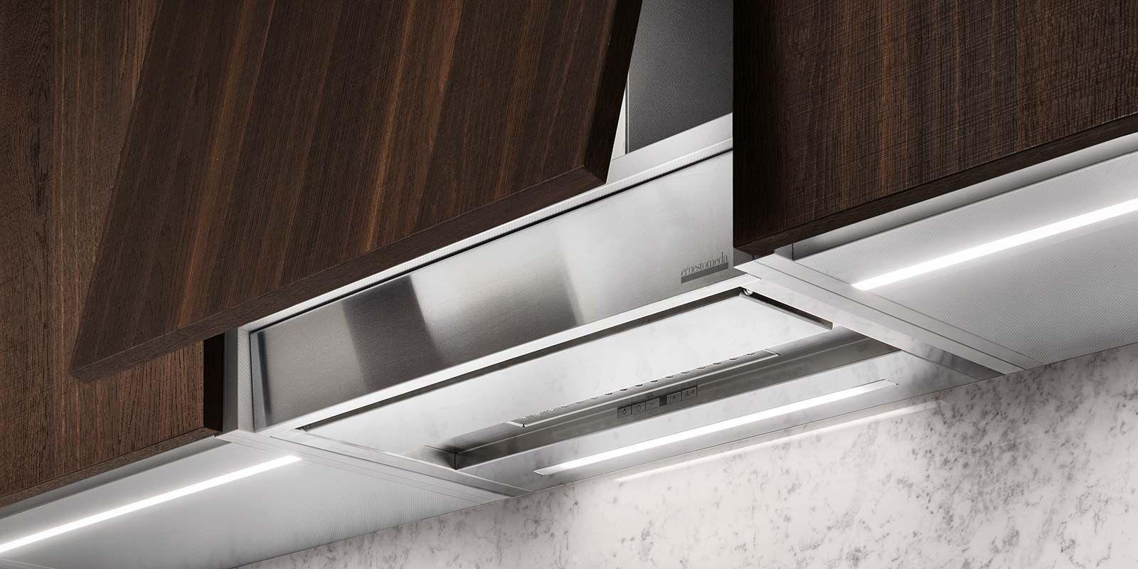 Wall-mounted range hood / with built-in lighting - ONE - ERNESTOMEDA