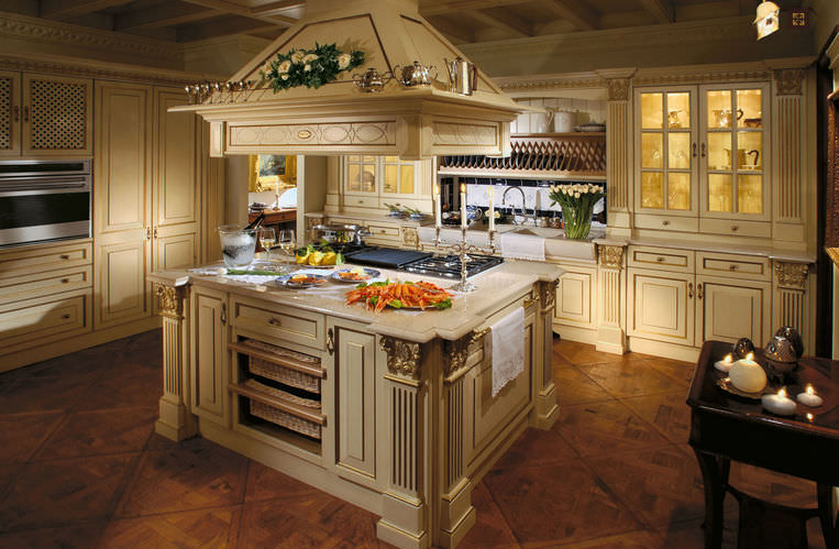 traditional kitchen wooden island with handles royal luxury rh archiexpo com