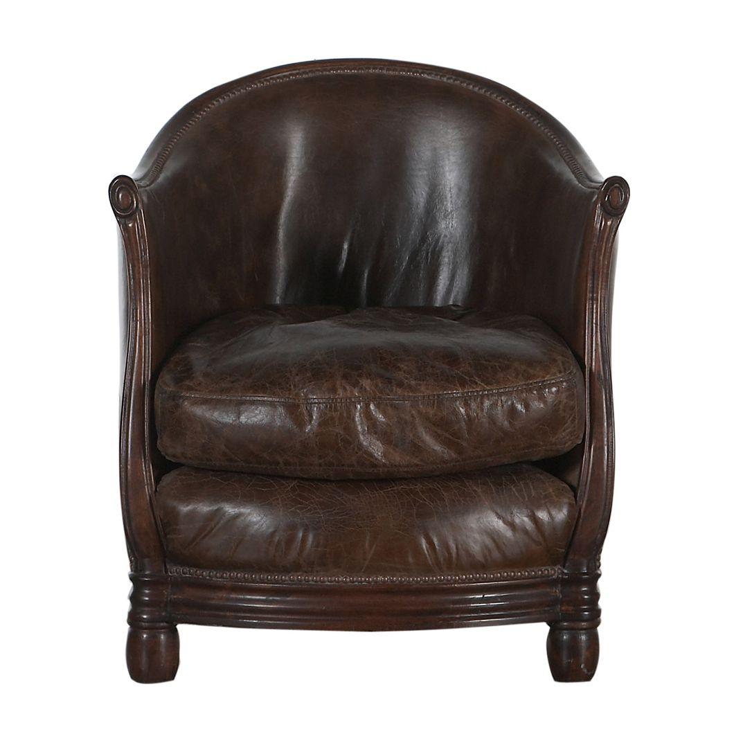 Traditional Armchair / Leather / Oak / Club   MELBURY