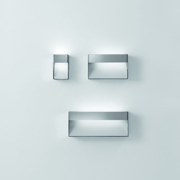 Contemporary Bathroom Wall Lights contemporary wall light / bathroom / glass / stainless steel - 369