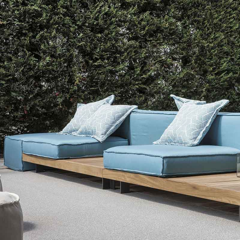 Modular sofa / contemporary / for reception areas / outdoor - YORK ...