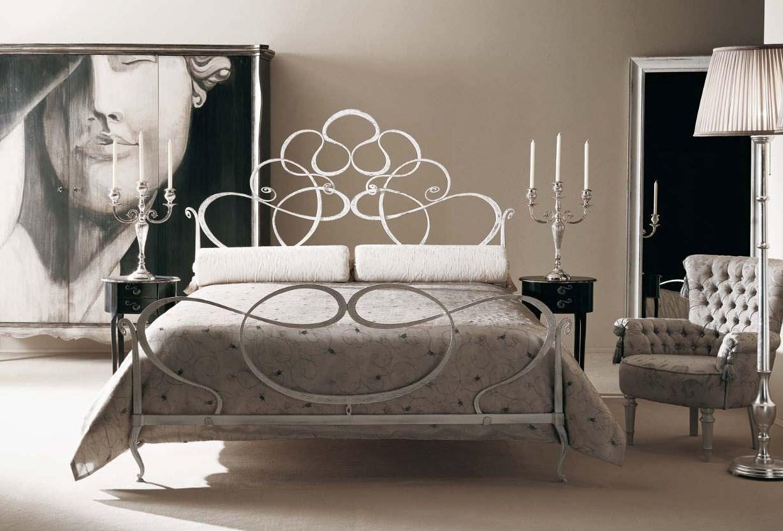 Double bed / traditional / wrought iron - ARAMIS - GIUSTI PORTOS