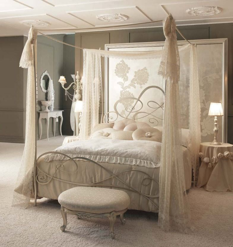 Canopy bed / double / traditional / wrought iron - LOLITA - GIUSTI ...