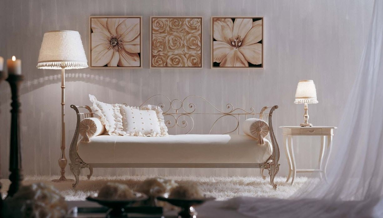 Wrought iron single bed - Single Bed Traditional Wrought Iron Siche Sofa