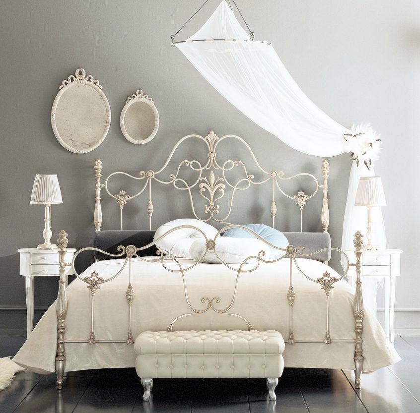 Double bed / classic / wrought iron - ERALD - GIUSTI PORTOS