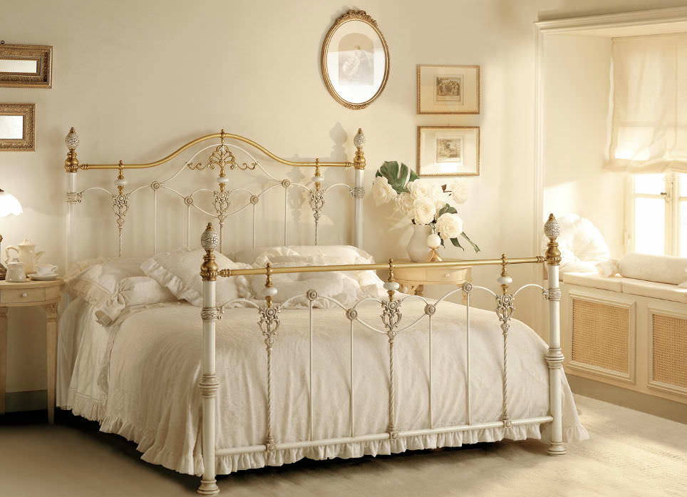 Double bed / classic / wrought iron - LUXOR - GIUSTI PORTOS