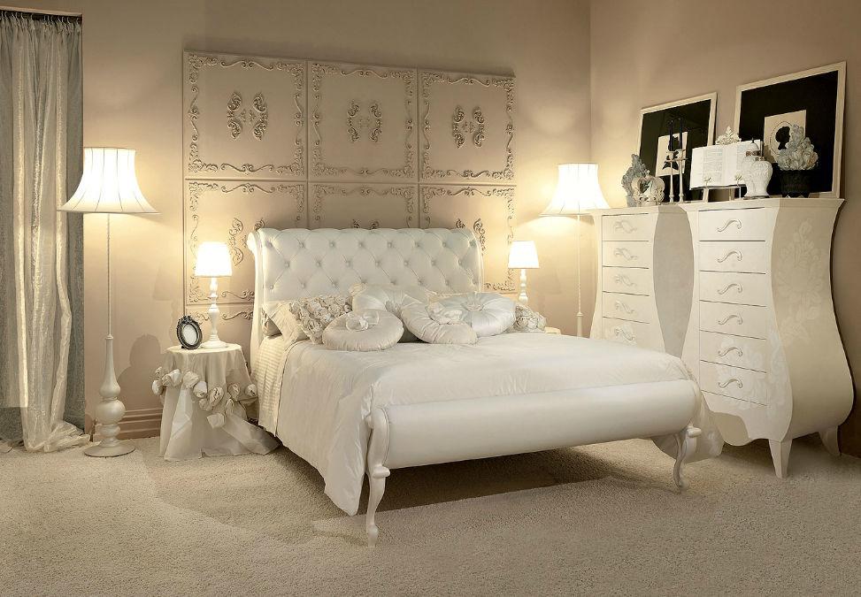 Double bed / classic / velvet - LUIS - GIUSTI PORTOS