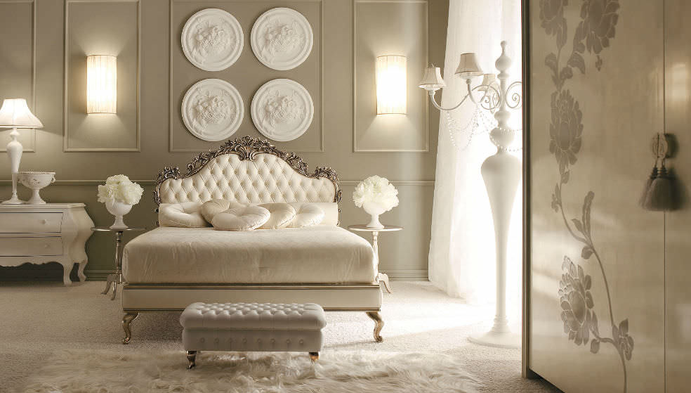 Double bed / classic / leather - MOZART - GIUSTI PORTOS