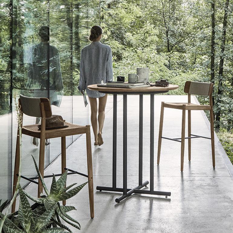 Contemporary Bar Chair / Teak / Rope / Outdoor   ARCHI By Henrik Pedersen