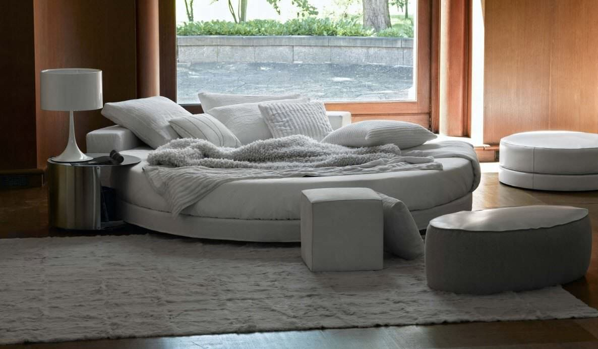 Round Bed / Double / Contemporary / Upholstered   GLAMOUR By Ennio Arosio U0026  Ivano Redaelli