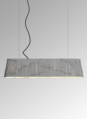 pendant lamp fabric black shoelaces by curro claret metalarte