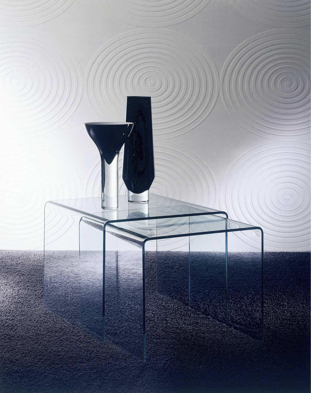 ... Contemporary Nesting Tables / Curved Glass / Rectangular IGLOO BONTEMPI  CASA ...