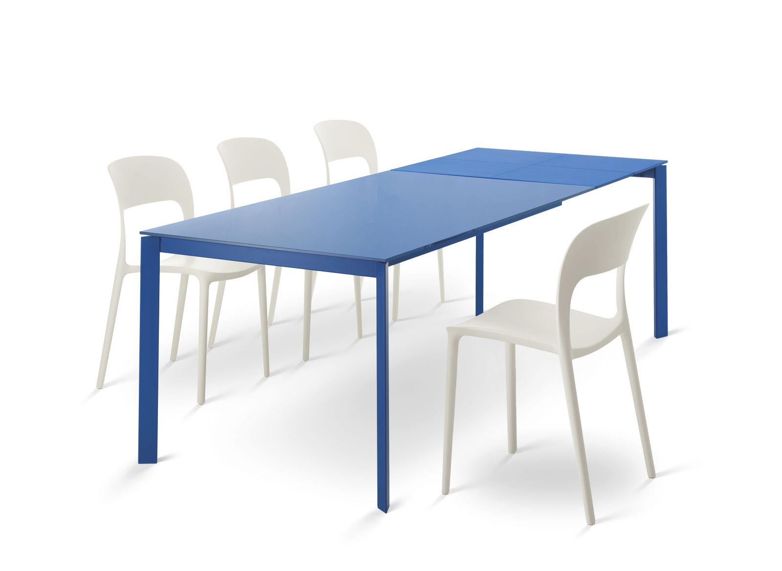 Contemporary table / metal / rectangular / extending - DUBLINO ...