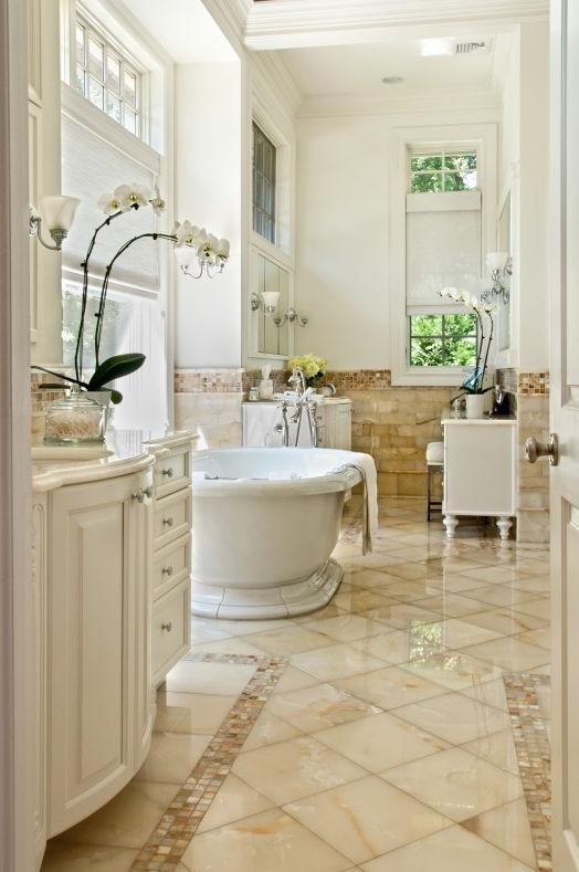 Bathroom tile wall floor natural stone BIANCO ONYX SELECT