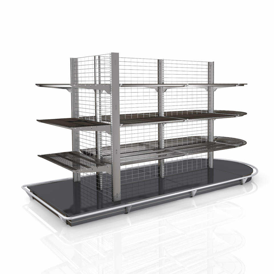 Standard shelving / merchandise / for shops / metal - WIRE TECH 100 ...