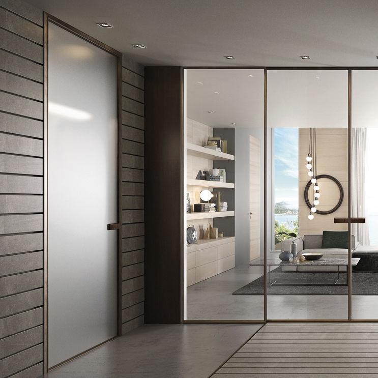 Glazed Door glazed door / interior / swing / aluminum - g-like : 1vt 80mm - gidea