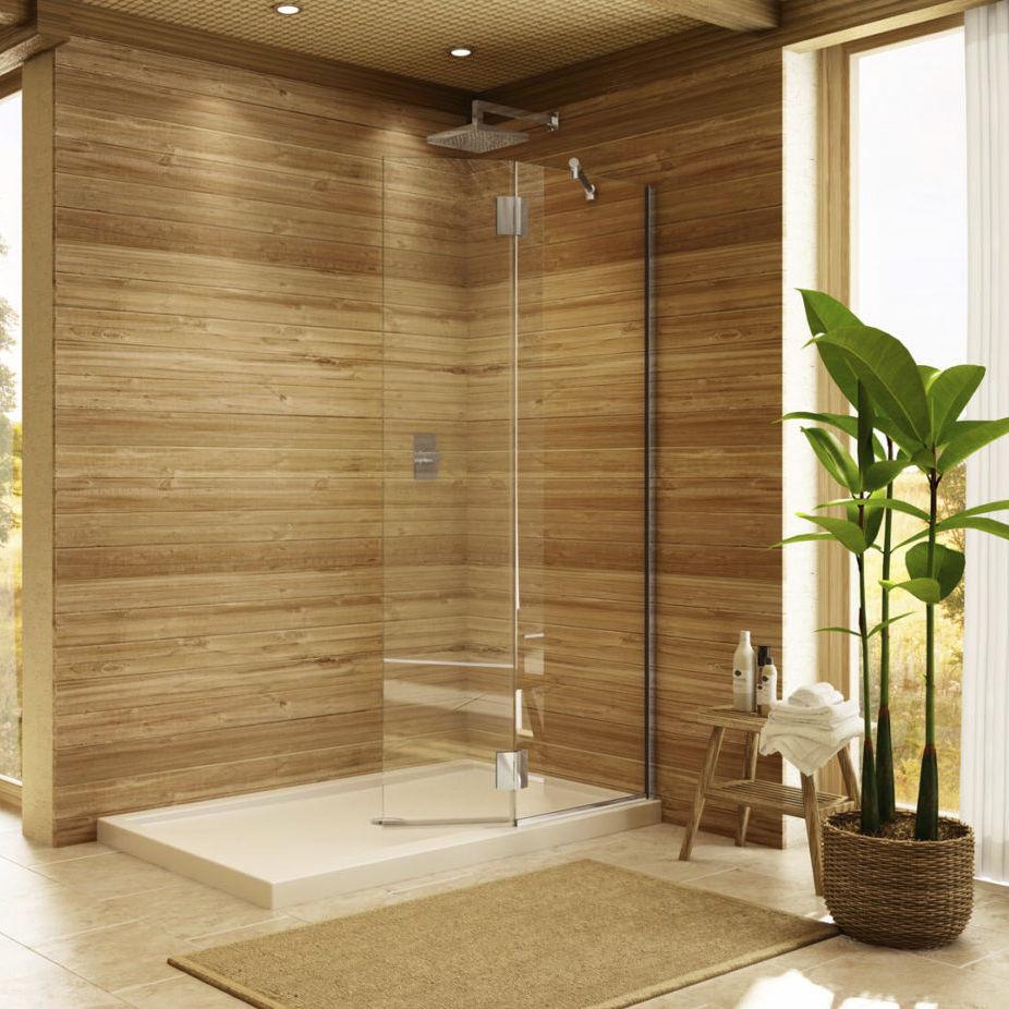 Swing shower screen / fixed / corner - SQUARE SHIELD - Alumax Bath ...