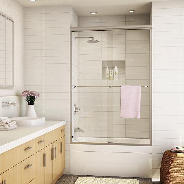 Sliding bath screen - 340D / 350D - Alumax Bath Enclosures
