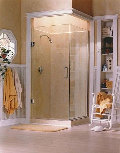 Swing shower screen / corner - PL92 HEAVY GLASS SERIES - Alumax Bath ...
