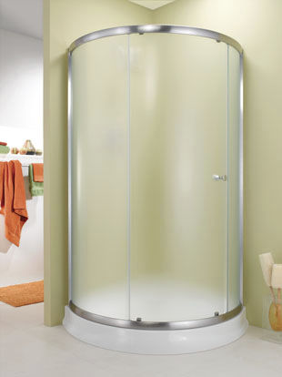 Sliding Shower Screen Corner Curved