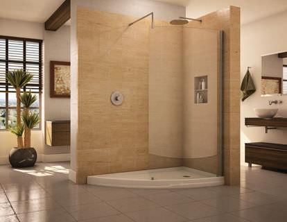 Fixed shower screen / corner / curved - LANI: CSSY - Alumax Bath ...