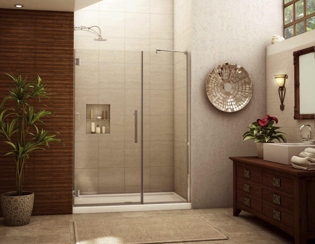 Swing shower screen / for alcoves - MOANA: M-DP91X - Alumax Bath ...