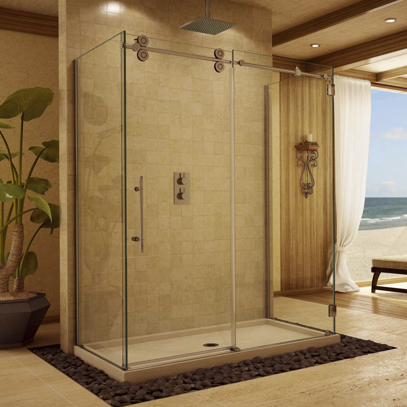 Sliding shower screen / glass - P-DR3W - Alumax Bath Enclosures