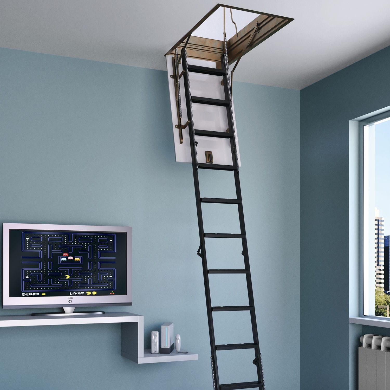 Retractable Ladder / Steel / Folding   4P