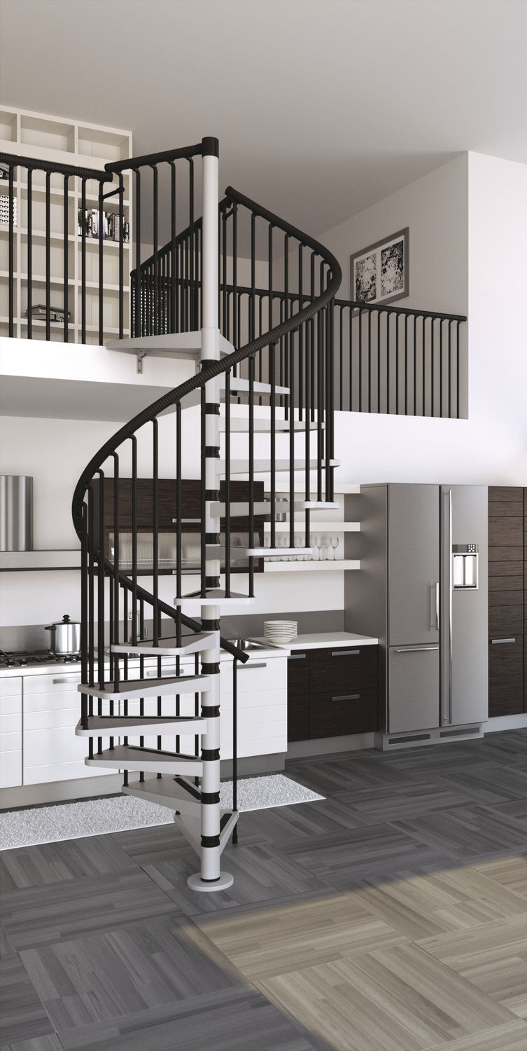 ... Spiral Staircase / Metal Steps / Steel Frame / Without Risers GAMIA  Misterstep ...