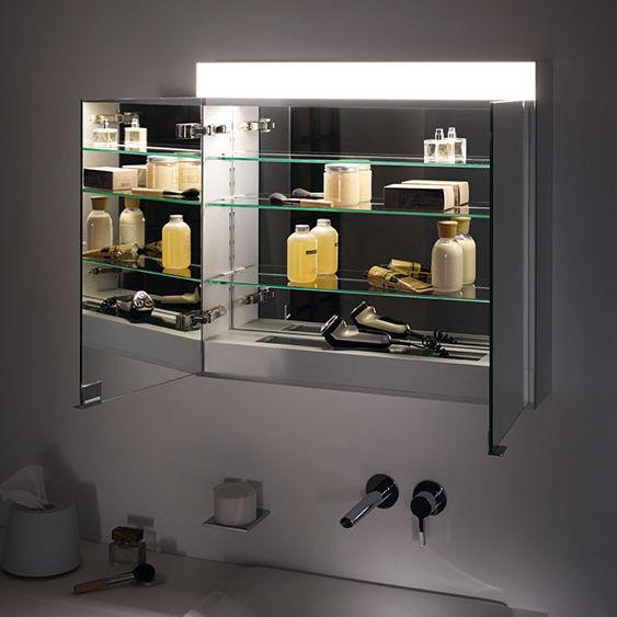 Mirrored Bathroom Wall Cabinet   EDITION 400: 21521/21531/21522/21532