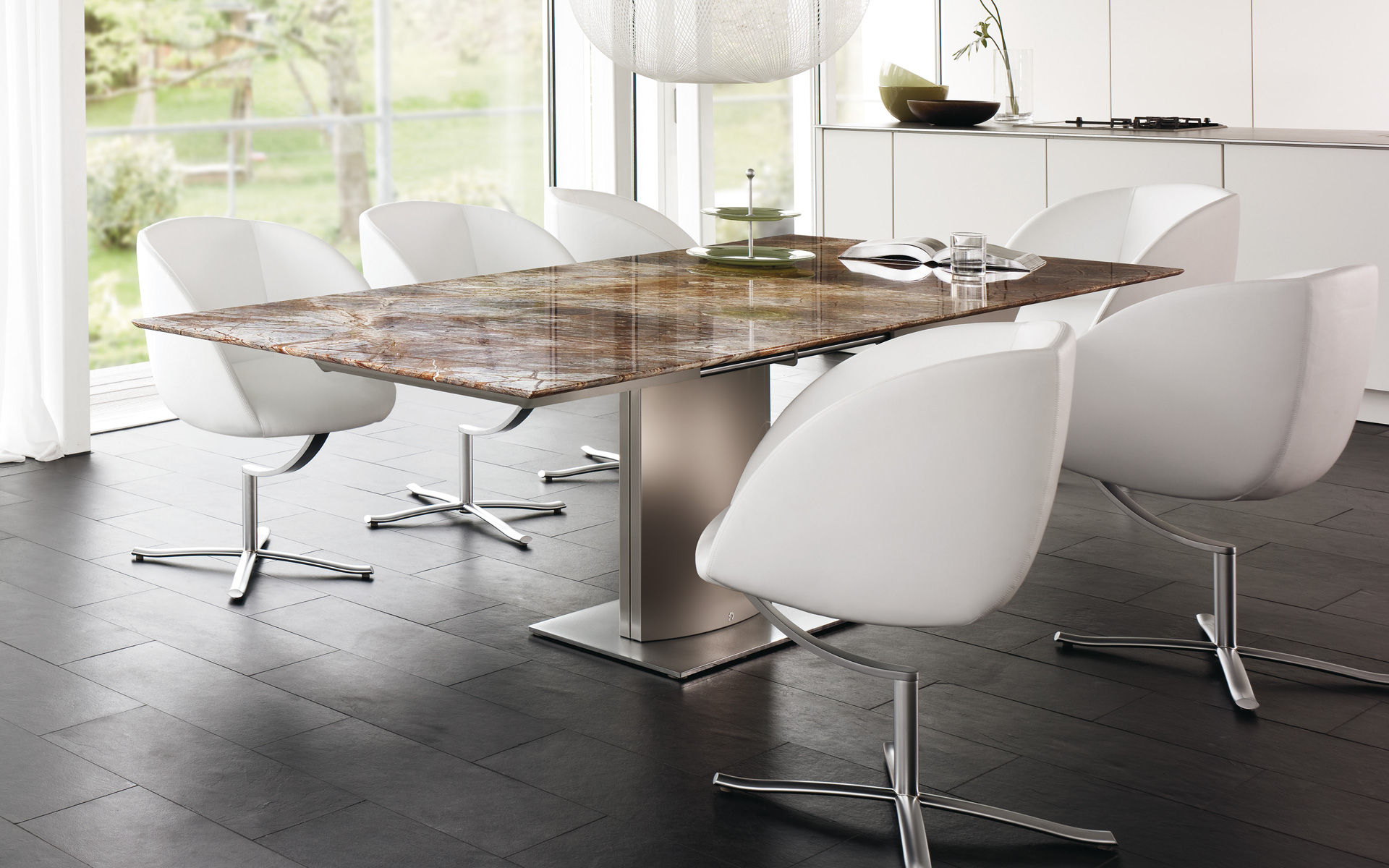 Contemporary stone dining table - Contemporary Dining Table Stone Oval Rectangular 1224 Adler Ii By Georg Appeltshauser Draenert