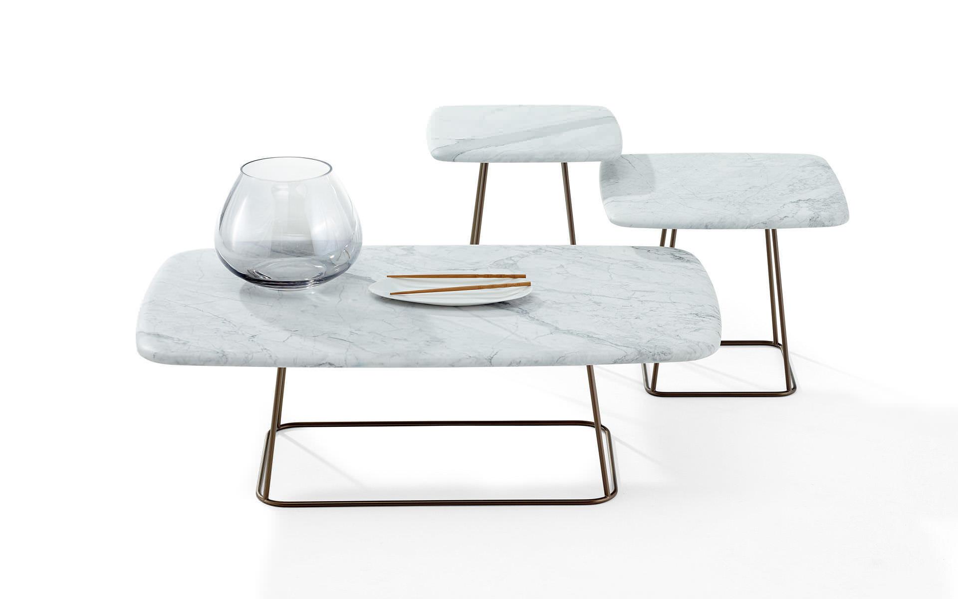 contemporary coffee table natural stone square 1370 manolo