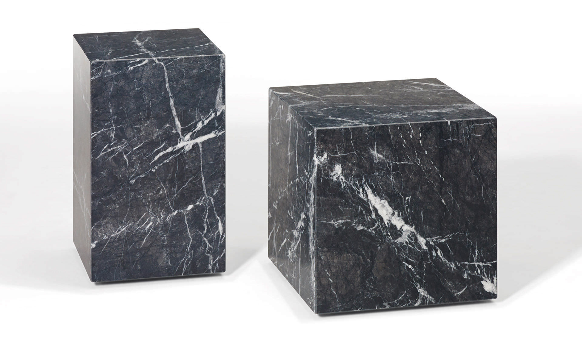 Contemporary Side Table Natural Stone Cube Shaped 1365 Qbic By Patric Draenert 2014