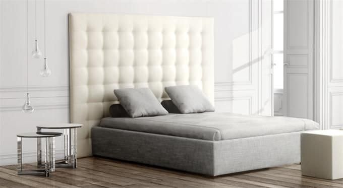 Headboards Double Bed Double Bed Headboard  Contemporary  Fabric  Leather  Grassoler