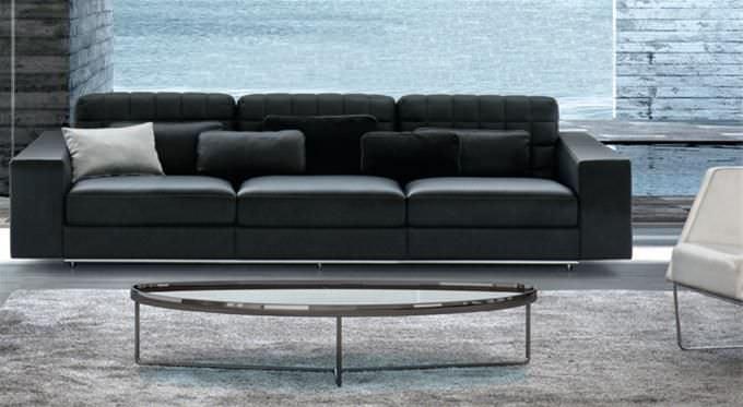 Modular Sofa / Contemporary / Synthetic Leather / Fabric   VIP By Antonio  Saturnino