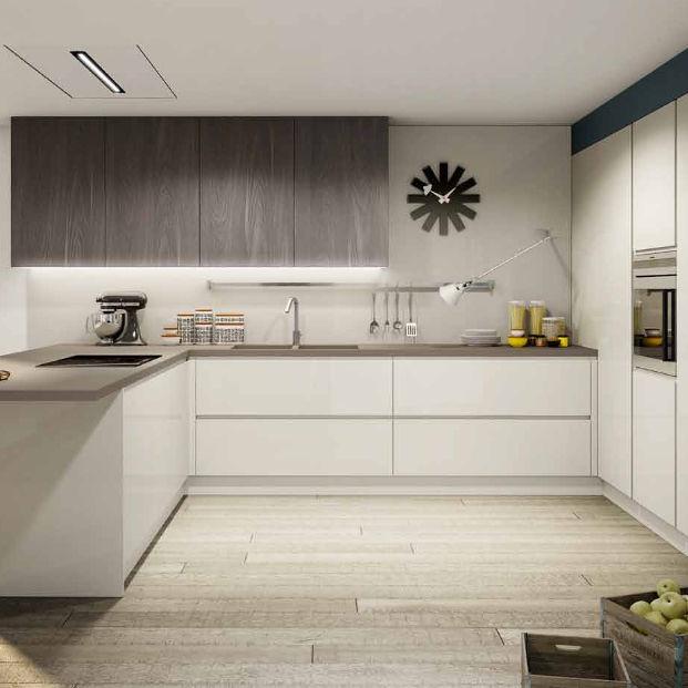 Contemporary Kitchen / Melamine / U Shaped / Lacquered   BRERA