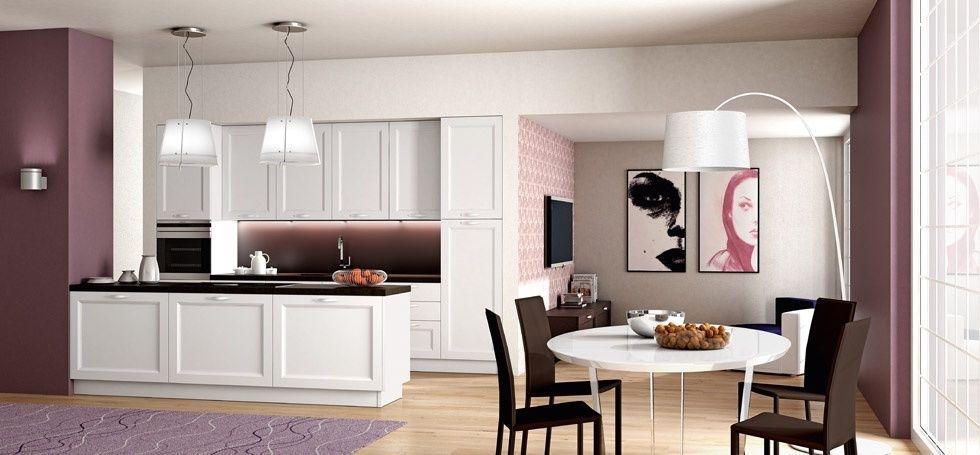 Traditional kitchen / wooden / island / lacquered - GINEVRA - BERLONI