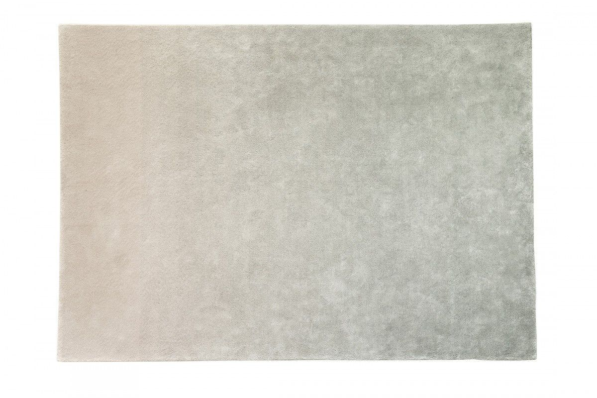 Contemporary Rug Plain Wool Linen Vis À
