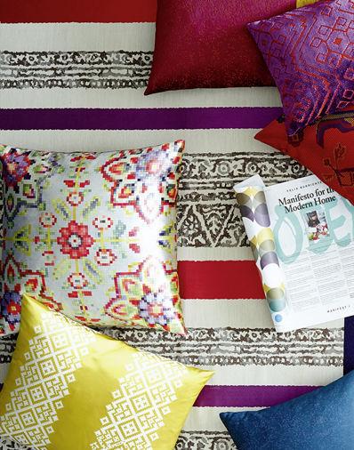 Upholstery Fabric Floral Pattern Velvet Pixus Sahco