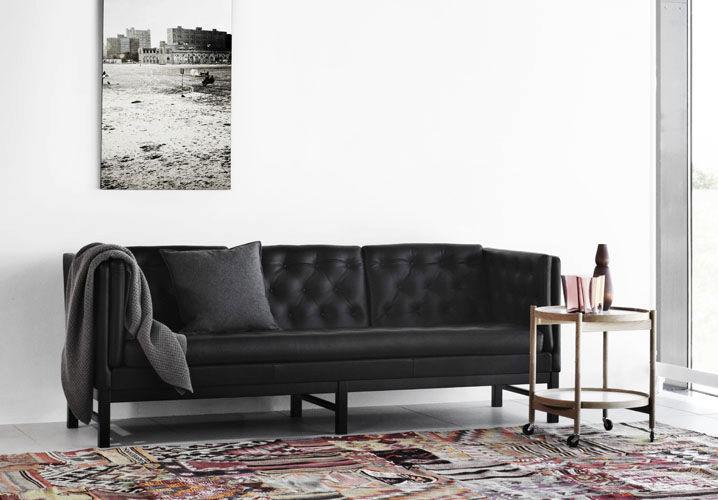 Contemporary Sofa Leather Wooden Polyurethane Ej 315 By Erik Ole Jørgensen