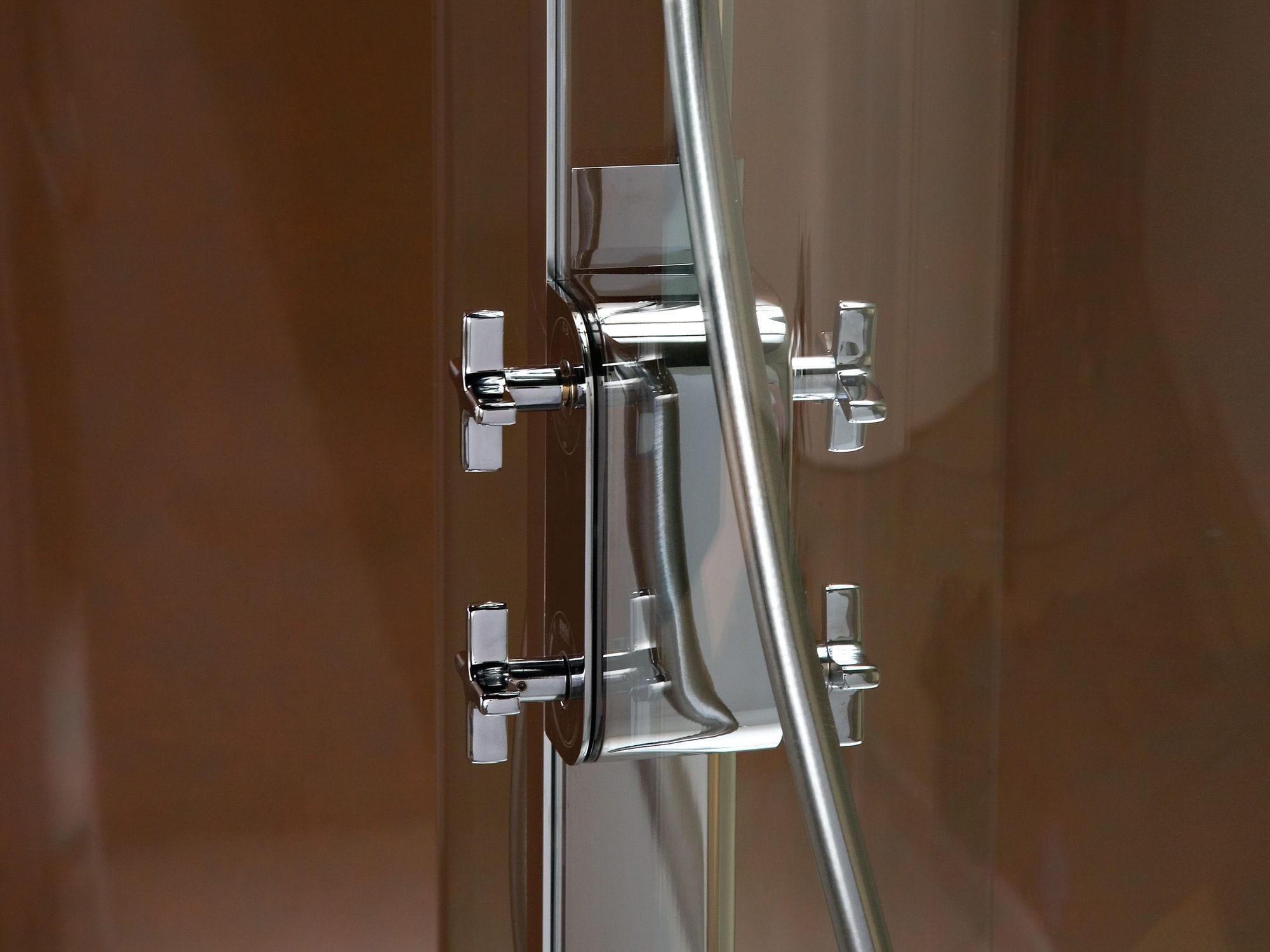 Fixed shower screen / corner / curved - WCD - matki showering