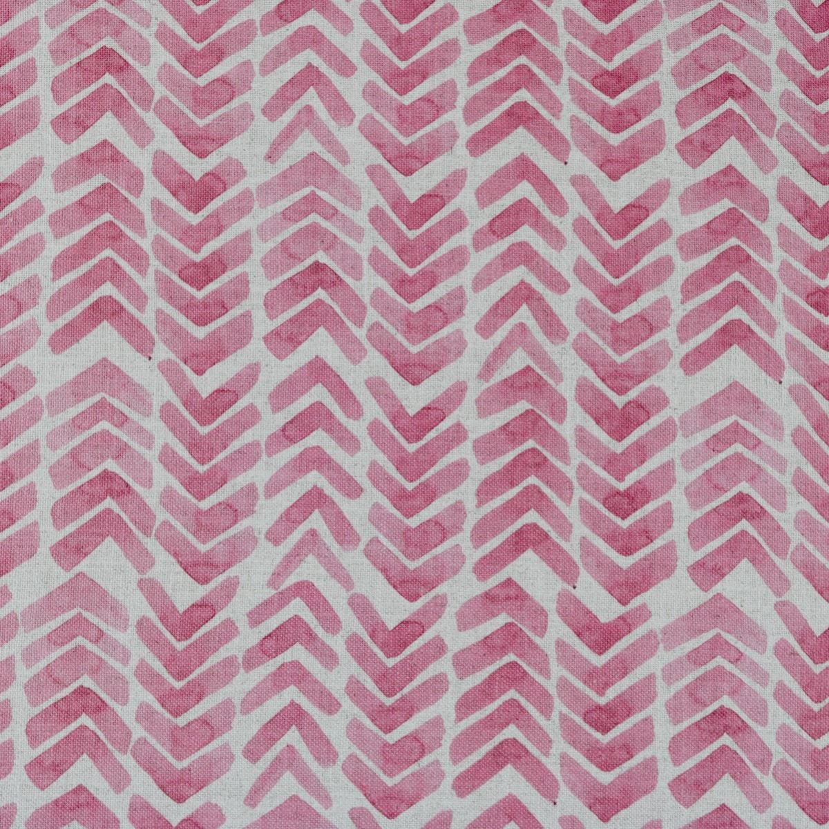 Upholstery Fabric For Curtains Patterned Linen Aloe Pink