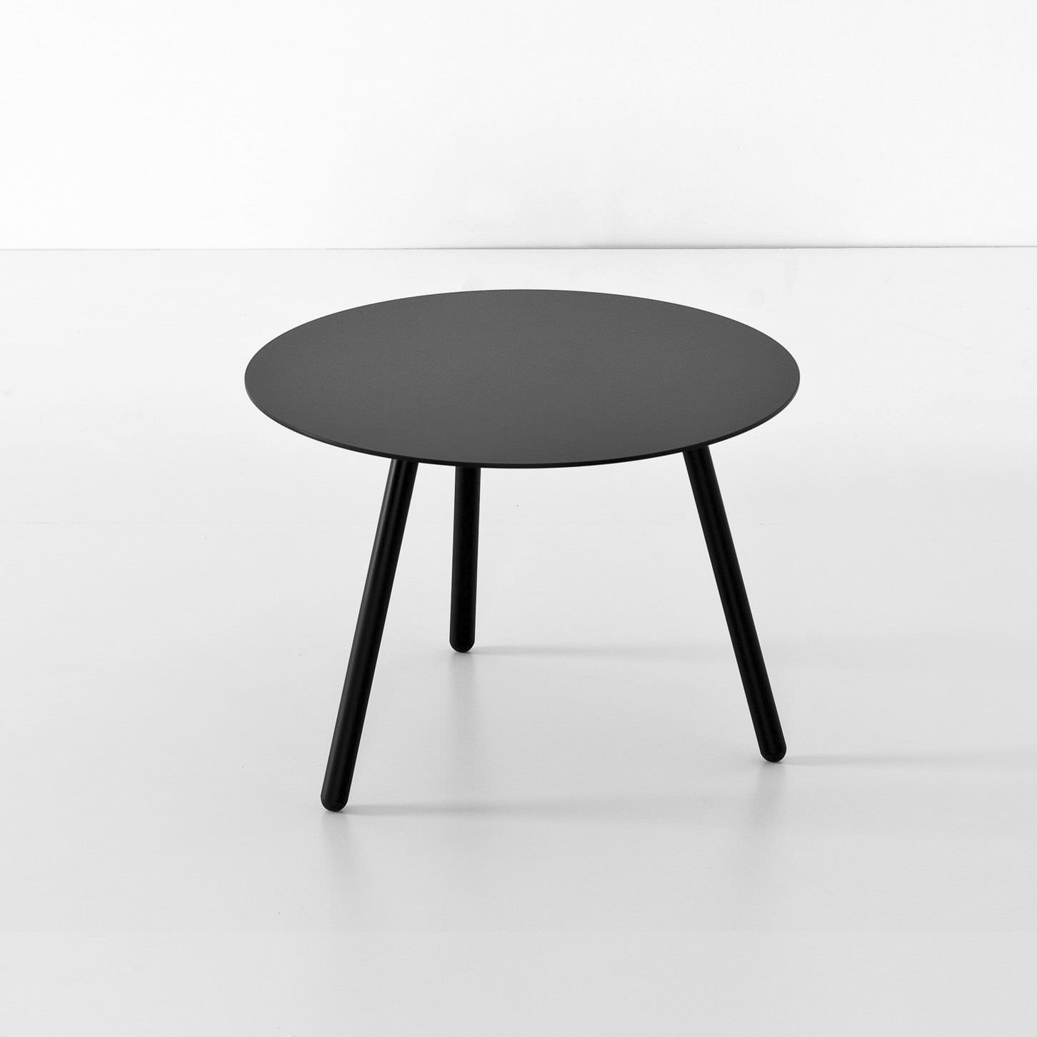 Contemporary coffee table wooden round BCN LOW by Harry