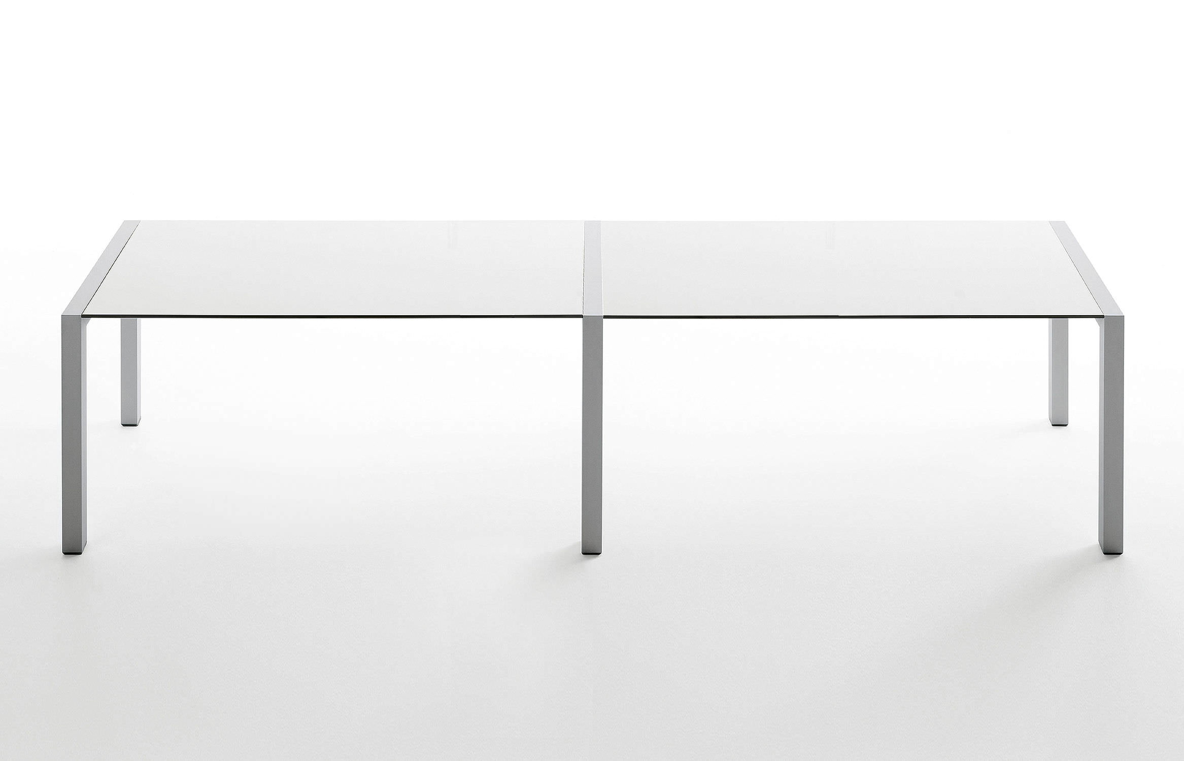 Contemporary boardroom table glass laminate rectangular