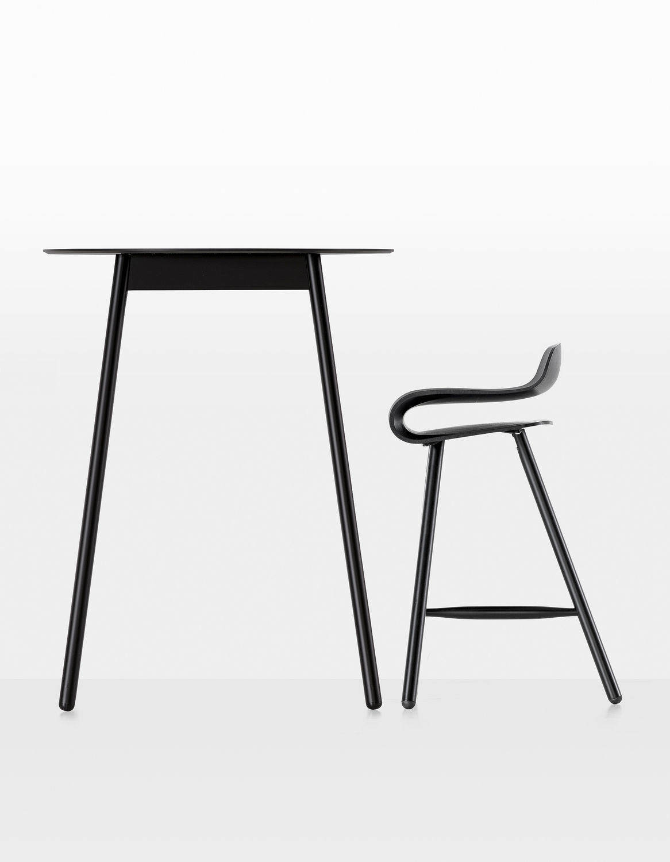 bar stool wooden adjustable bcn wood base by harry u0026 camila kristalia