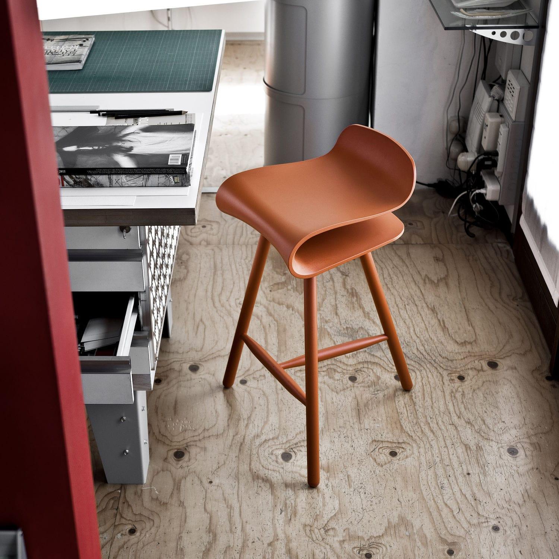 bar stool wooden adjustable bcn wood base by harry u0026 camila