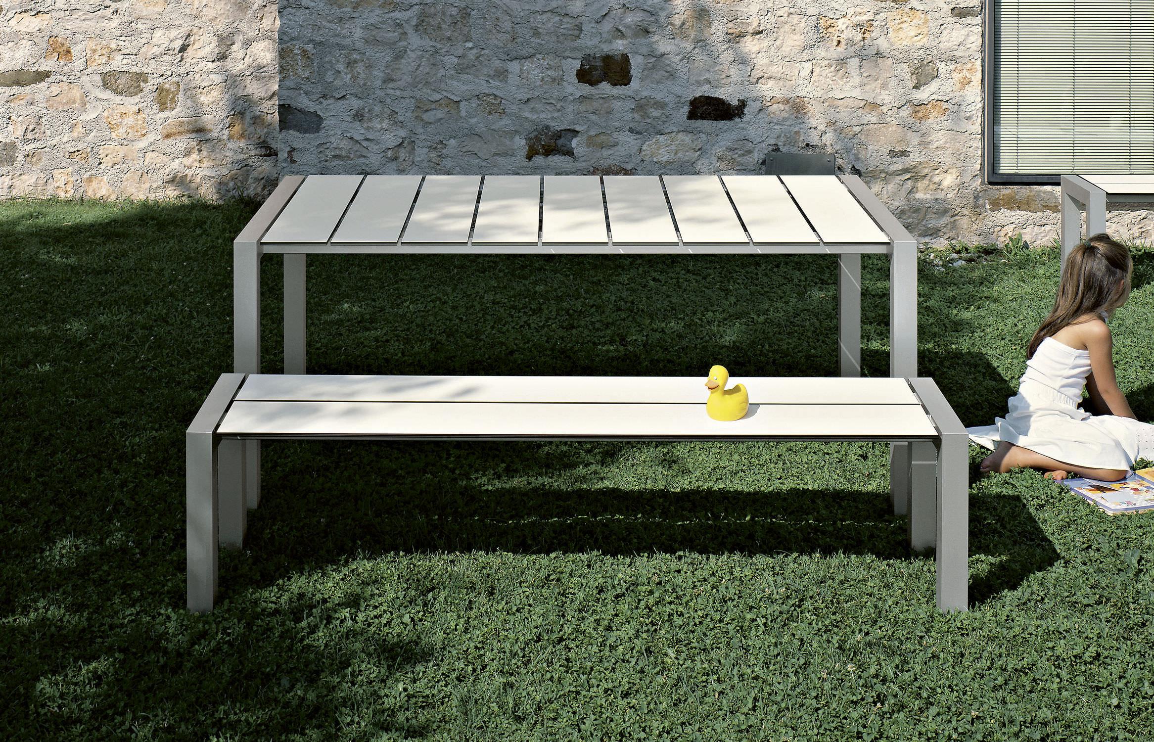 Outdoor furniture garden bench commercial metal outdoor furniture - Garden Bench Contemporary Metal Sushi Bench By Bartoli Design