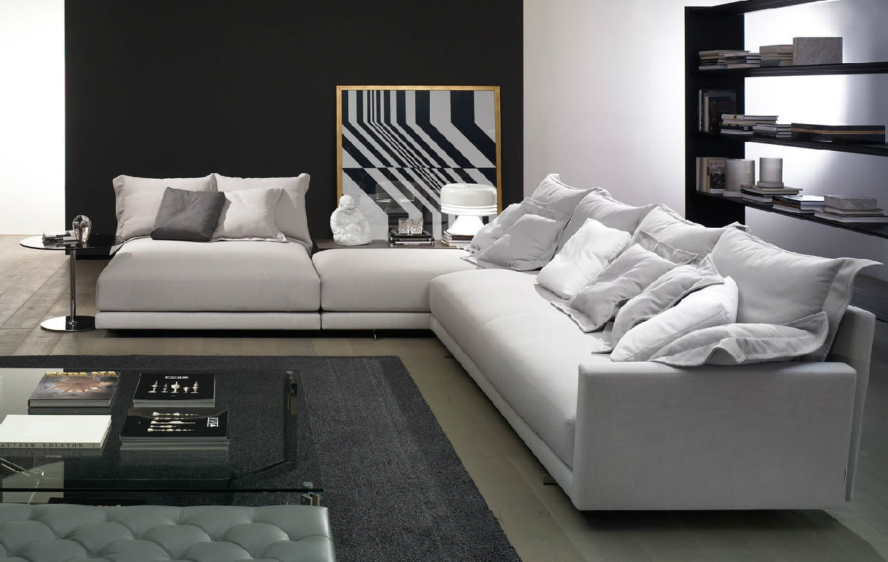 Modular Sofa Contemporary Fabric 6 Person Angelo By J D