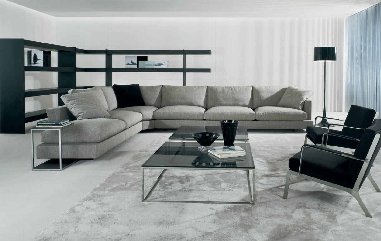 Corner Sofa Contemporary Fabric 7 Seater And Up Vintage By David Casadesús