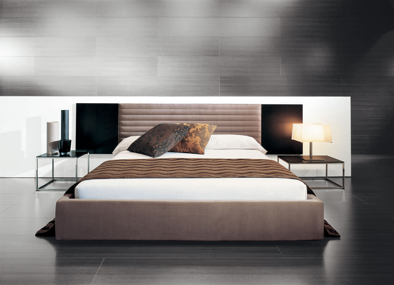 Double bed designs in wood -  Double Bed Contemporary Wood Veneer Upholstered Alma By David Casadesus Casades S